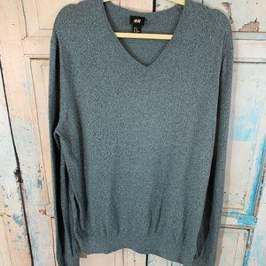 💸H&M Blue V Neck Sweater Size XL